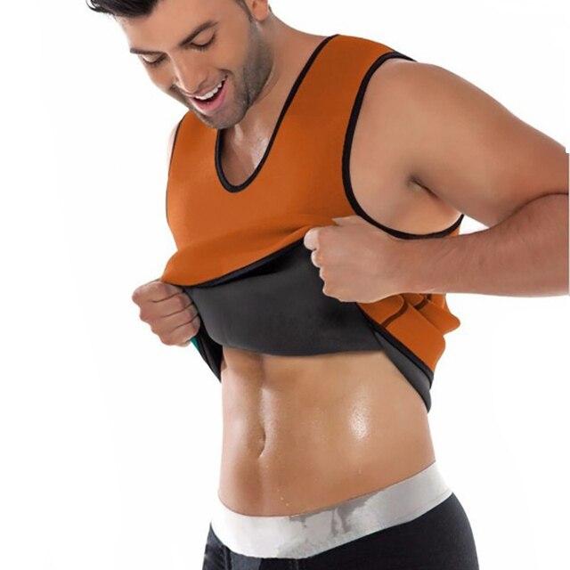 Men Workout Body Shaper Waist Trainer Tummy Slimming Sheath Abs Abdomen Shapewear Tops Slimming Trimmer Belt Vest Sweat Corset 3