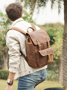 Новые деловые рюкзаки контакта, кожаный рюкзак Crazy Horse для 13,3 дюймового ноутбука, винтажные мужские дорожные сумки, качественные мужские рюк...