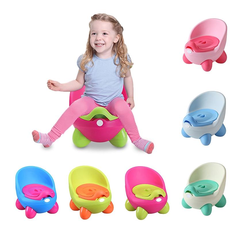 Baby Potty Toilet Seat Bowl Portable Training Pan Children's Pot Kids Bedpan Comfortable Backrest Toilet Girls Boys Cartoon Pot