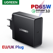 Ugreen carregador usb tipo c pd 65w, carregador para apple macbook air, ipad, pro, samsung, asus, tablet para nintendo switch