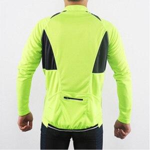 Image 5 - ARSUXEO 반 지퍼 백 포켓 통기성 MTB 자전거 자전거 셔츠 의류와 반사 남성 긴 소매 사이클링 저지