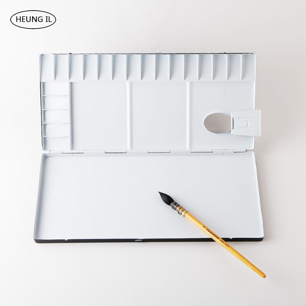Купить с кэшбэком Heuneil Metal Palette Gouache Watercolor Acrylic Paint Palette 39/35/30/13 Lattice Artist Portable Box