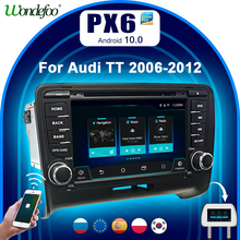 Auto radio 2 DIN Android 10 autoradio PX6 Für Audi TT MK2 8J 2006 2012 2DIN auto audio auto stereo navigation multimedia system