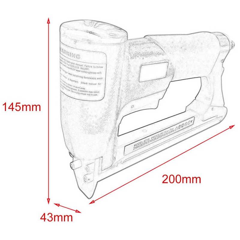 1/2 Cal pneumatyczne powietrze zszywacz gwoździarka grzywny zszywacz narzędzie do mebli niebieski gwoździarka narzędzie 4-16Mm do obróbki drewna pneumatyczne powietrze moc do