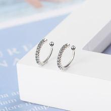 Новые простые Стильные циркониевые серьги кольца без пирсинга