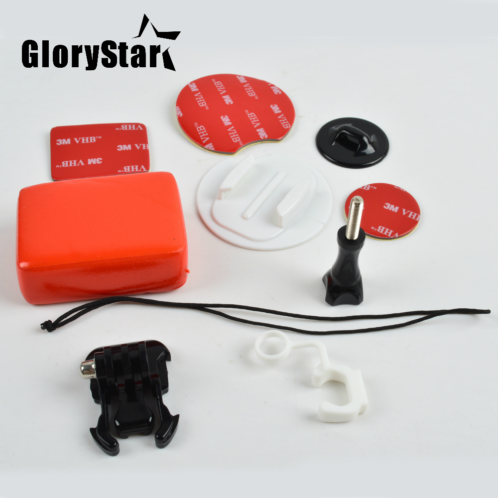 Camera Accessories For Go Pro Surf Expansion Kit Surfboard Mounts+ Floating With 3M Adhesive Sticker For Gopro Hero YI SJ XIAOMI