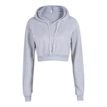 Women Fashion Hoodie Sweatershirt Jumper Sweatshirt Short top Coat Women Sport Pullover Hooded Tops Female Autumn Winter Clothes
