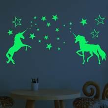 1 juego nuevo brillan en la oscuridad juguetes pared pegatinas para niños dormitorio decoración del techo del hogar Estrellas luminosas pared pegatinas de regalo