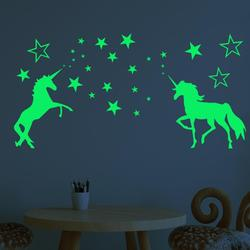 1set New Glow In The Dark Toys Wall Stickers for Kids Baby Bedroom Ceiling Home Decor Luminous Stars Unicorn Wall Stickers Gift