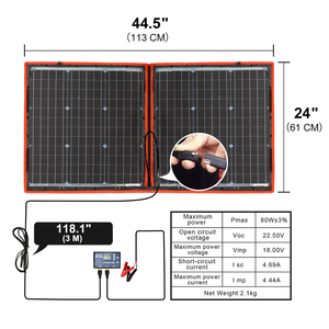Image 3 - Dokio 80W (40*2pcs) 18V 유연한 접이식 태양 전지 패널 + 12V/24V 태양 컨트롤러 캠핑/여행에 대 한 휴대용 태양 전지 패널
