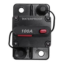 12 V/24 V автомобиль морской аудио держатель предохранителя 100A ручной сброс автоматического выключателя