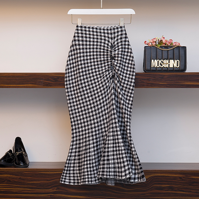 Fp3537 2019 New Autumn Winter Women Fashion Casual Sexy Skirt Kawaii Plus Size Skirt Big Plus Size Knitting Wool Warm Long Skirt