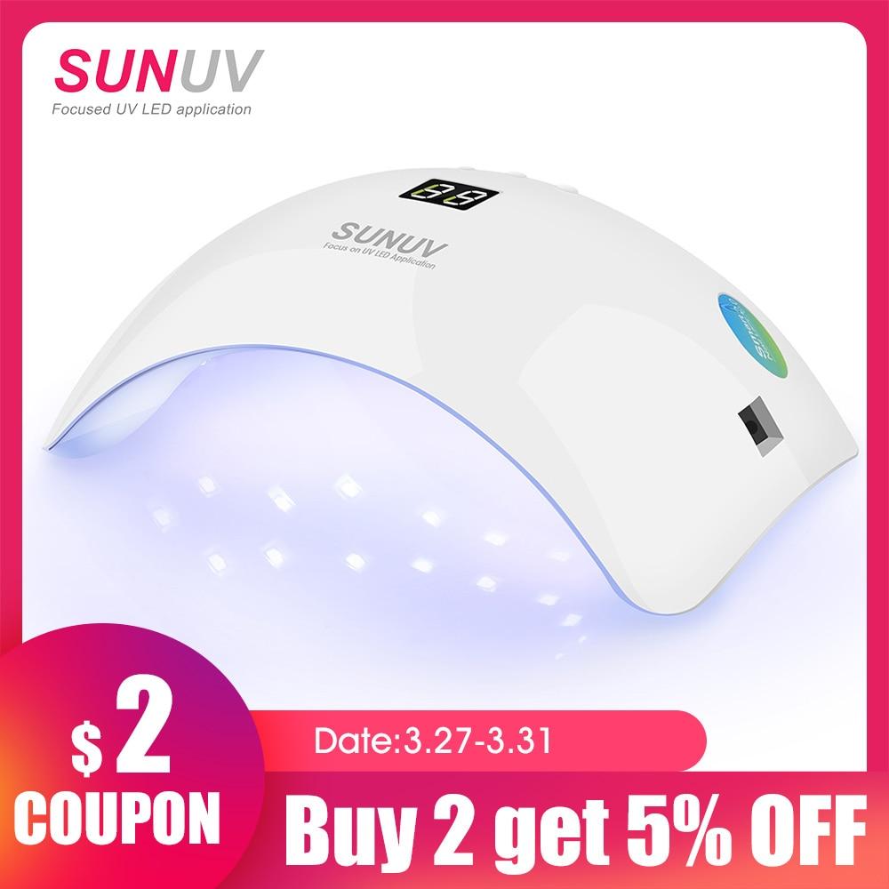 SUNUV SUN8 UV LED Nail Lamp 48W Nail Gel Dryer 30s 60s Timer 90s Low Heat Mode Curing UV LED Gels Nail Polish Art Toolsled nail lamp 48wnail lamp 48wlamp 48w -