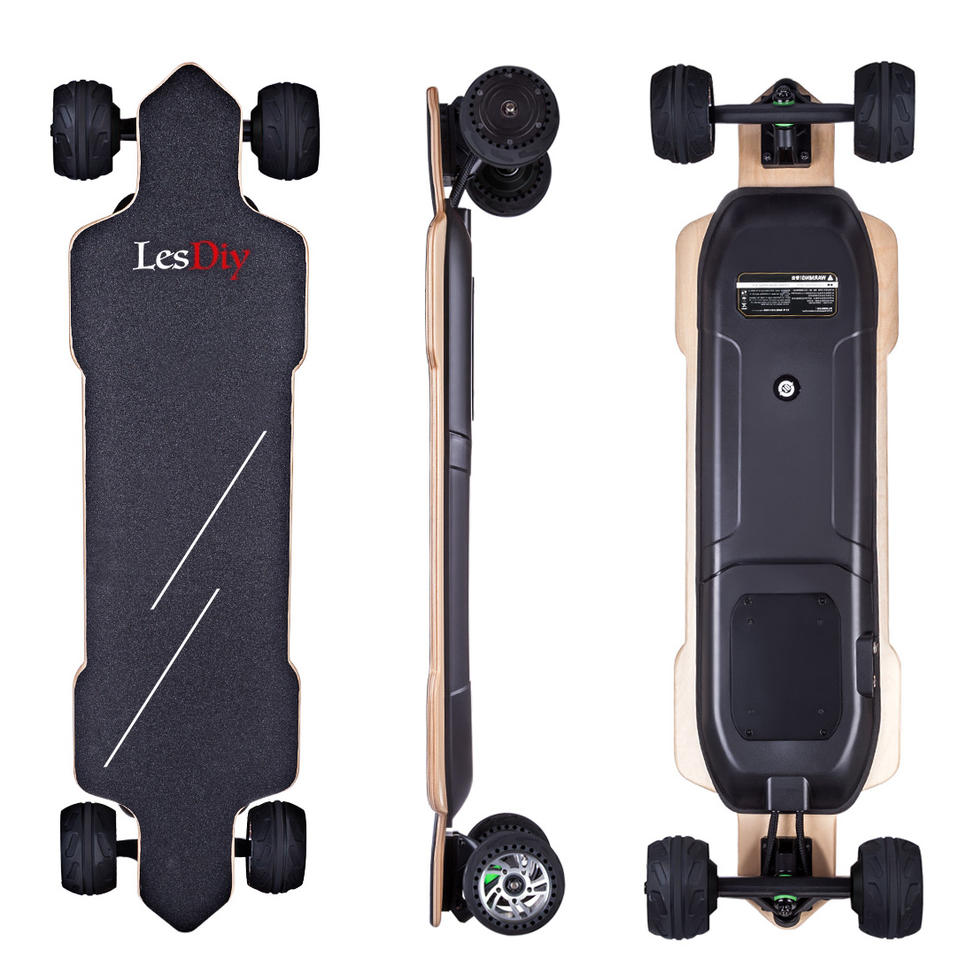 LESDIY High-End 4-Wheel Electric Skateboard With Four Speed Adjustable Endurance 30km Balance Electric Scooter Diy Sports Toys