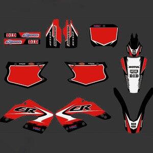 Полностью графические наклейки мотоцикл фон пользовательский номер имя 3 м матовый для HONDA CR 125 CR 250 CR125 CR250 2000 2001