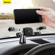 Baseus Gravity Car Phone Holder For Phone Sucker Universal Mobile Support For iPhone