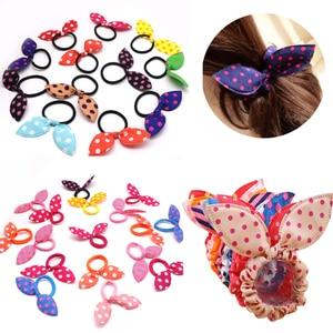 Hair Accessories for Girls Rabbit Ears Hair Band Scrunchies Elastic Hair Band for Girls Styling Rubber Band Polka Dot Hair Rope