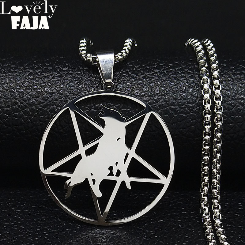 Mens necklace Green Cane Glass Pendant Necklace Personality Tree Pentagram Jewelry Charms Pendnat Necklaces For Women