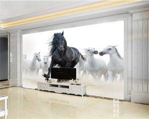 Image 2 - Personalizzato 3d Murale Carta Da Parati Europea Stile di Otto Figura del Cavallo TV Sfondo Dipinto Murale Carta Da Parati Legato