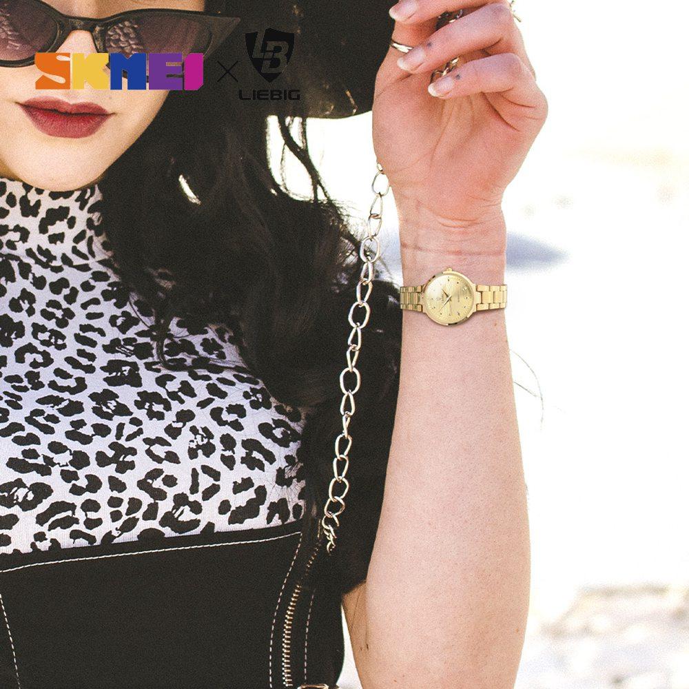 2020 Luxury Golden Quartz Watch Top Brand Steel Bracelet Wrist Watches For Men Women Female Male relogio masculino Clock L1012 3