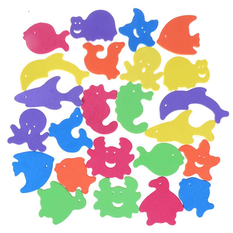 Juguetes educativos para niños de edades tempranas para 34 Uds. Juguetes para jugar en el agua con forma de Animal Puzles de espuma juguete flotante para baño suave para niños juguete flotante para Baño