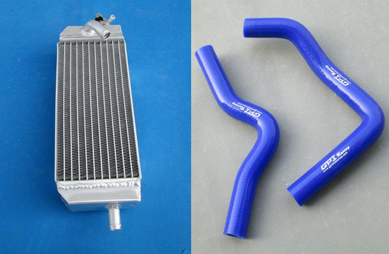 All Aluminum Radiator + Hose For 09 08 07 06 05 04 03 02 Suzuki RM85 RM 85 2002-2009
