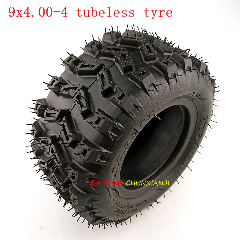 9X4.00-4 Golf Go Cart ATV Pocket Bike tubeless <font><b>Tire</b></font> 9x4.00-4 Turf Rider Tread Tubeless Lawnmower wheel tyre image