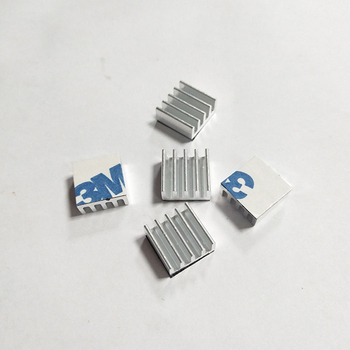 Aluminum alloy width 11*tooth height 5*length 11mm power module radiator IC cooling leaf heat sink with glue image