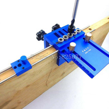 3 in 1 Drilling High Precision Dowel Jigs Dowelling Jig Kit Woodworking Tool Joinery Locator Guide KF1006