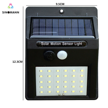 30 LED Solar Power Light PIR Motion Sensor Solar Wall Lamp Outdoor Waterproof Energy Saving Garden Yard Lamps