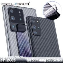 Arka ekran koruyucu Samsung Galaxy S20 Ultra not 10 S10 artı karbon Fiber Sticker Samsung S20 + Note10 koruyucu film