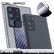 Back Screen Protector for Samsung Galaxy S20 Ultra Note 10 S10 Plus Carbon Fiber Sticker for Samsung S20+ Note10 Protective Film