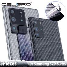 화면 보호기 삼성 갤럭시 S20 울트라 Note 10 S10 플러스 탄소 섬유 스티커 삼성 S20 + Note10 보호 필름