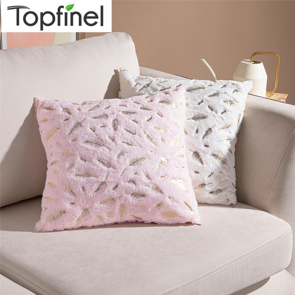 Topfinel фланелевые наволочки INS чистая красная наволочка Золотое перо Подушка для домашнего декора диван стул кровать сплошной цвет розовый|Наволочка|   | АлиЭкспресс