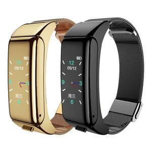 B60 Смарт Bluetooth гарнитура браслет 2-в-1 сердечного ритма мониторинг здоровья телефон часы кровяное Давление Смарт-часы