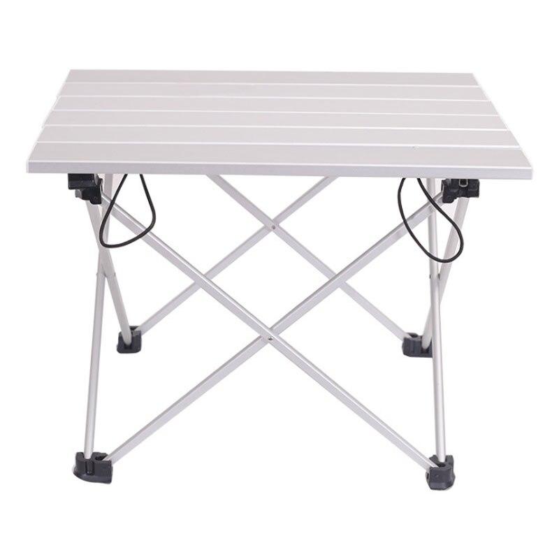 Peso leve portátil liga de alumínio mesa dobrável ao ar livre para acampamento praia backyards churrasco festa tamanho 40x34.5x29cm