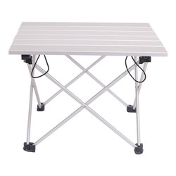 Portable Light Weight Aluminum Alloy Outdoor Folding Table For Camping Beach Backyards BBQ Party Size 40x34.5x29cm
