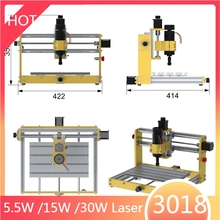 LY CNC 3018 Pro Plus 500W 300W Spindle 5.5W 15W 30W Laser Engraver Wood Router Milling Engraving Machine For Metal