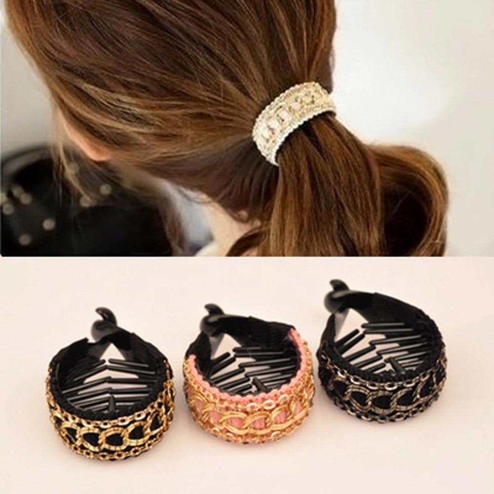 Korean Women Hair Clips Elegant Crochet Hair Claw Large Hairpins Banana Hair Clips Ponytail Hold Clamp Girl Hair Accessories