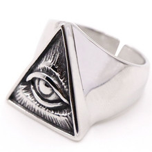 New Eye of God Ring Stainless Steel Fashion Jewelry  Boys Style Cool Cross Of