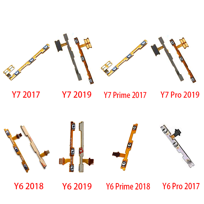 5Pcs/lot Volume Button Power Switch On Off Button Flex Cable For Huawei Y5 Y6 Y7 Pro Y9 Prime 2017 2018 2019