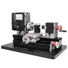TZ20002MGP Dc 12V 5A 60W High Power Mini Metalen Draaibank Hoge Precisie Diy Houtbewerking Frezen Boren Draaibank Machine tool Us Plug