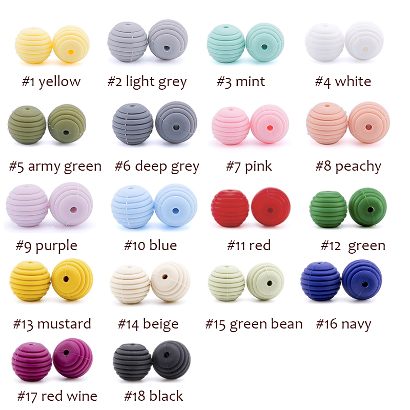 Let's Make 10pc Srew Tiny Rodent Silicone Beads For Necklaces Baby Teether Silicone Toy Children's Toy Silicone Teether Bead
