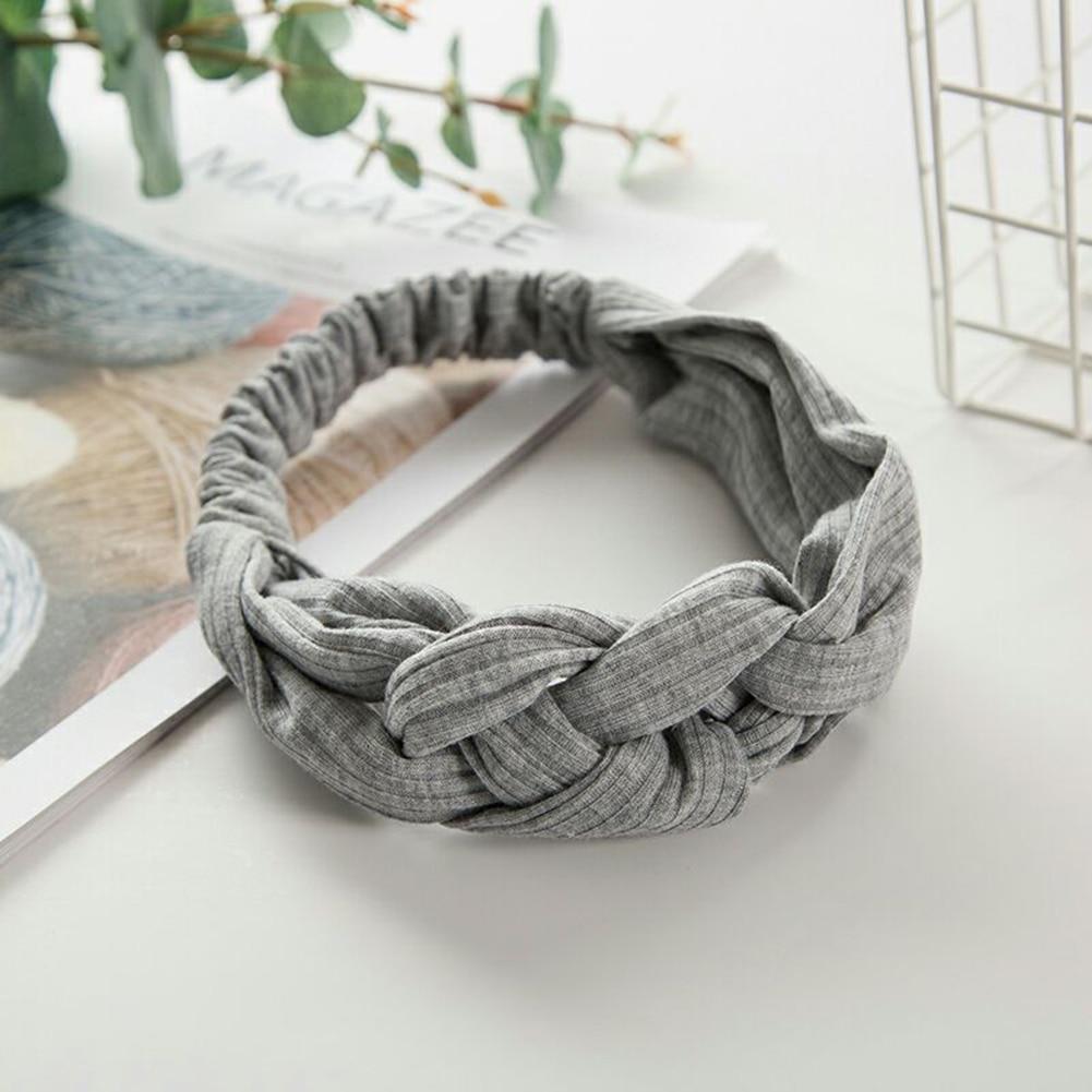 Women Knitting Soft Solid Headbands Vintage Cross Knot Elastic Hairbands Bandanas Girls Hair Bands Hair Accessories