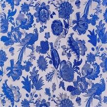 75x100 см, сделано в Китае, жаккард, голубой и белый фарфор, парча, полиэстер, ткань для нового года
