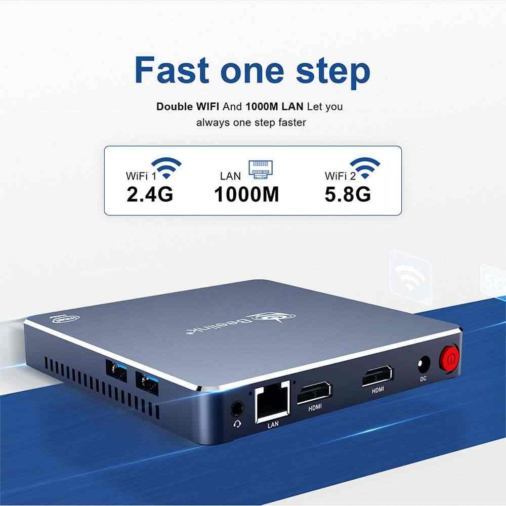 Beelink Gemini M Mini PCคอมพิวเตอร์Windows 10กล่องทีวี4GB 8GB Dual 2 HDMI J4125 Intel Lakeรีเฟรช1000M LAN 5.8G WIFIบลูทูธ