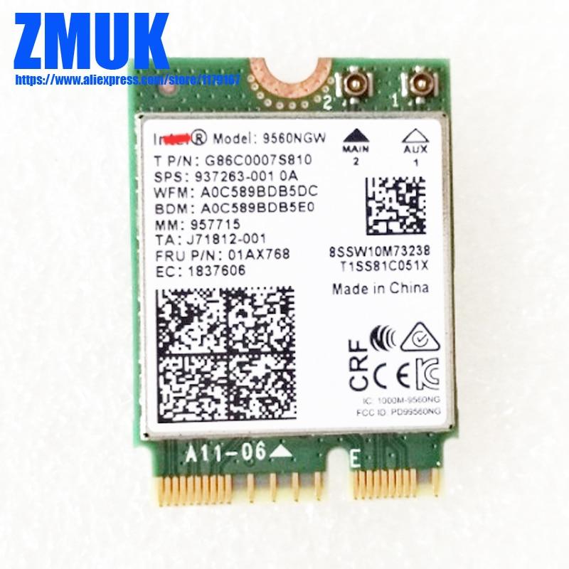 Intel 9560NGW Dual Band 802.11ac 2.4G/5Ghz 1.73Gbps WiFi Card BT 5.0 For Lenovo LEGION Y530 Y730 Series,P/N 01AX768 SW10M73238