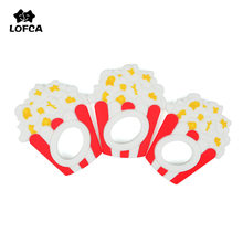 LOFCA Silicone Popcorn Teether Baby Teething Toys BPA Free Pendant Food Grade Chew Charms Silicone Beads Toys Nursing Necklace(China)