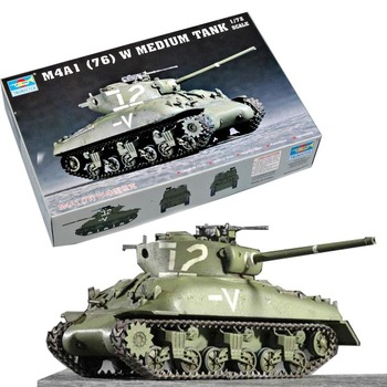 172 USA M4A1 76 W tanque de batalla principal maqueta militar de montaje vehículo de combate blindado