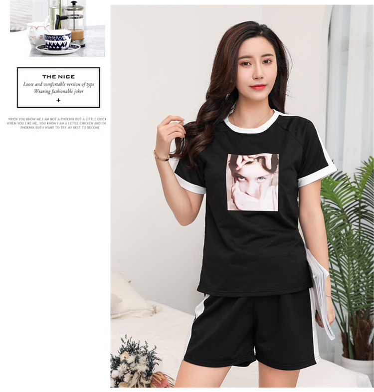 New Fashionable Summer Fashionable Thin Cotton Made Loose Casual Female Pyjamas Girl's Comfortable Sleepwear
